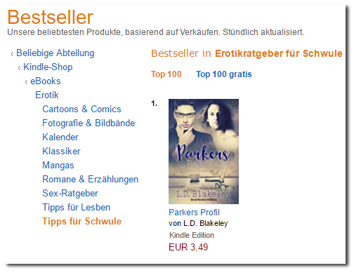 Parkers Profil reached #1 on Amazon Germany!
